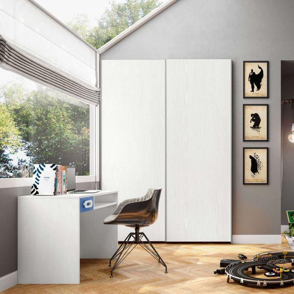 Vendita mobili online - Armadio due ante scorrevoli bianco ...
