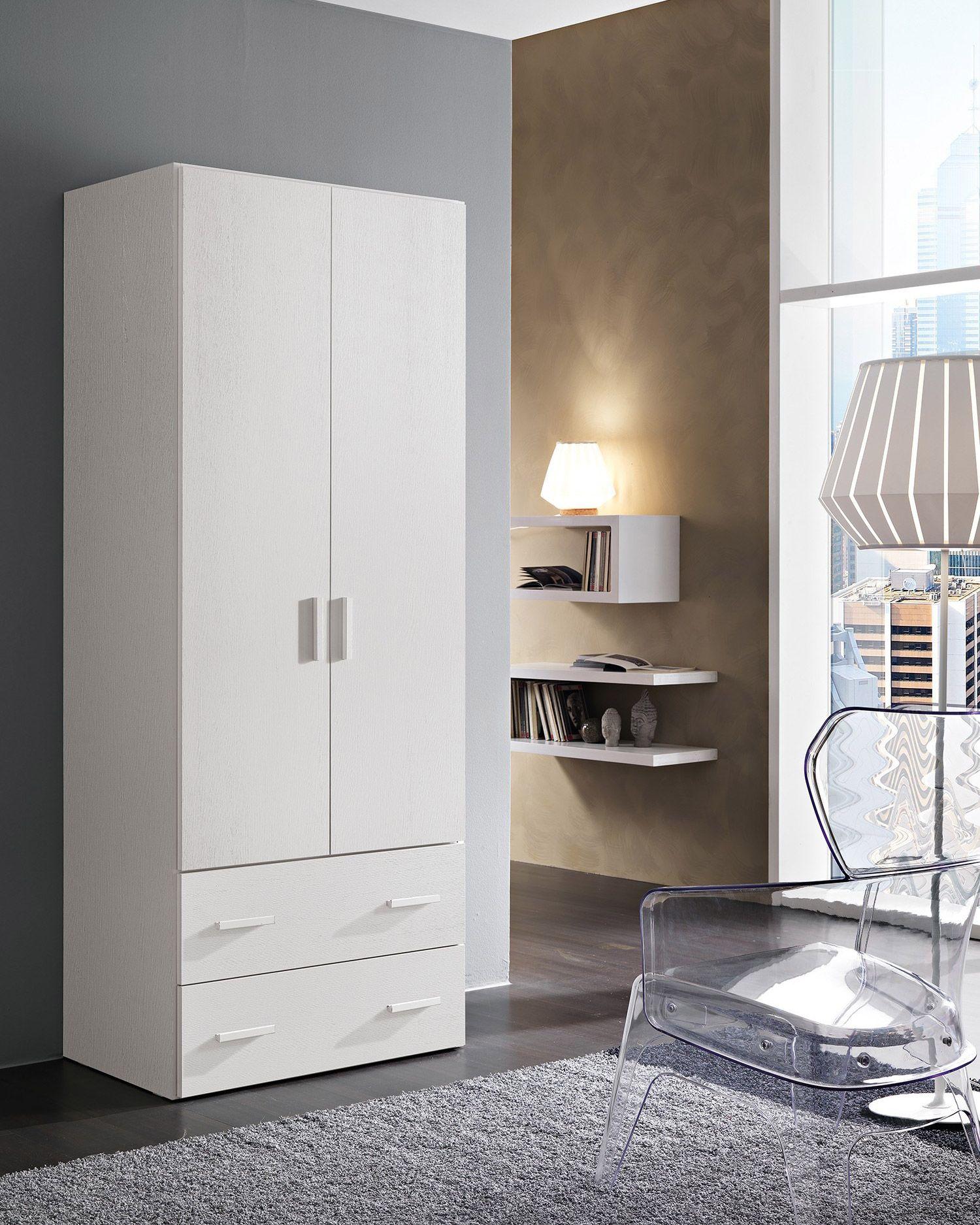 Vendita mobili online - armadio cassetti bianco frassino ...