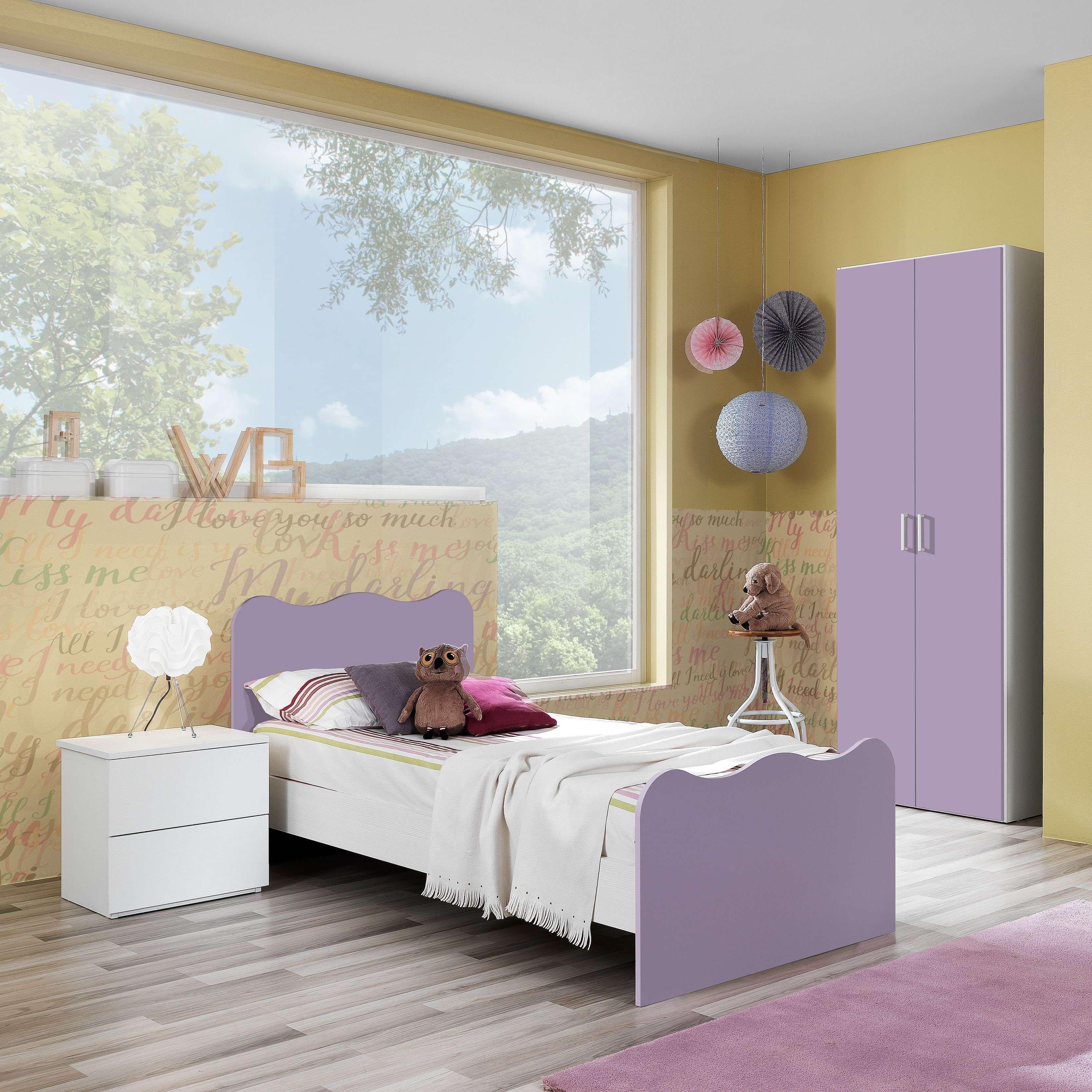 Vendita mobili online - Cameretta armadio 2 ante lilla ...