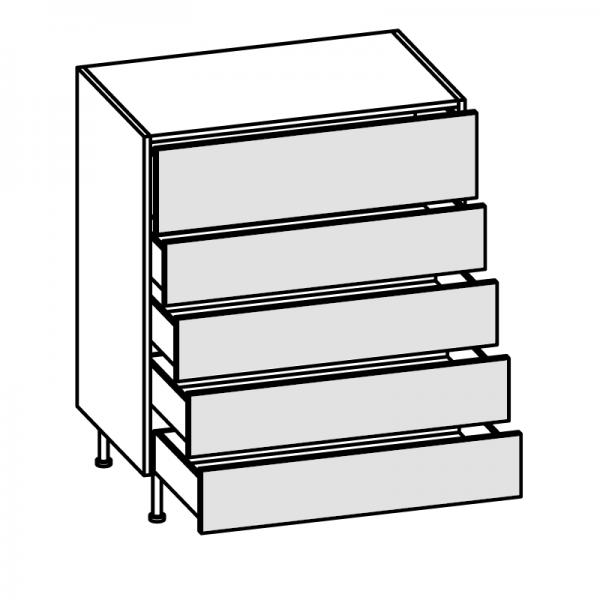 Base 5 cassetti H.96 P.58 cm
