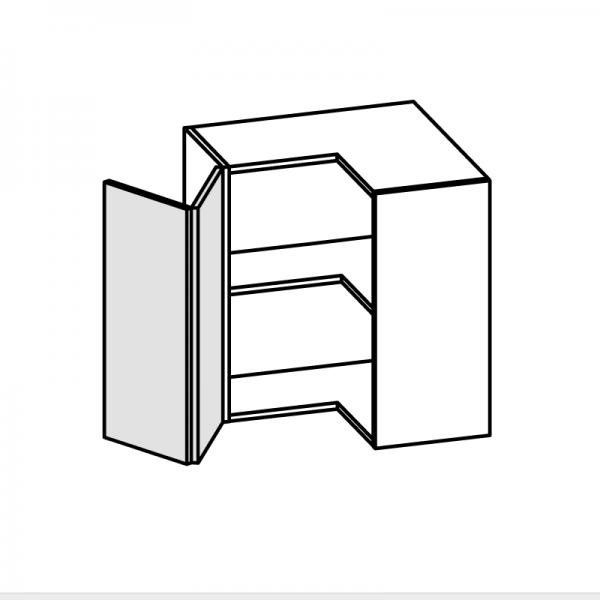 Pensile angolo 2 ante libretto H.72 P.34 L.64x64 cm
