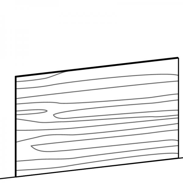 Pannello finitura anta orizzontale su misura