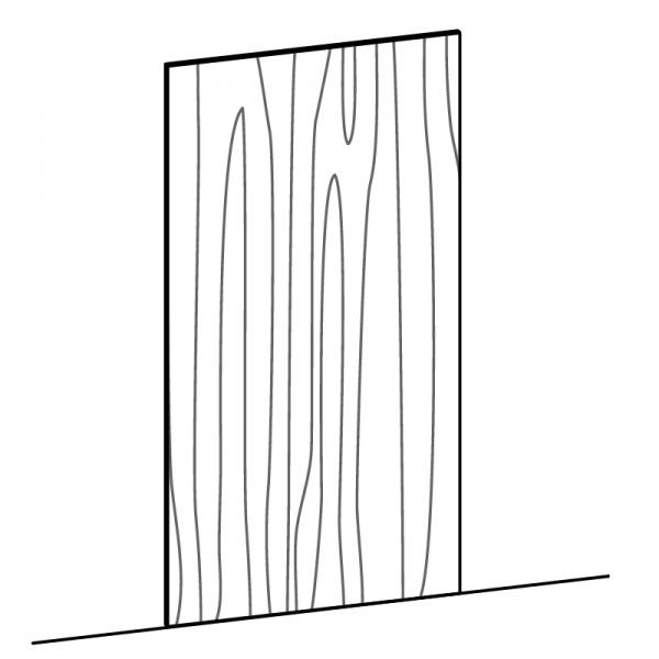 Pannello finitura anta verticale su misura