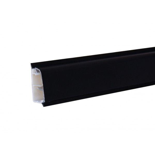 Alzatina spessore 2 h. 3 cm alluminio nero