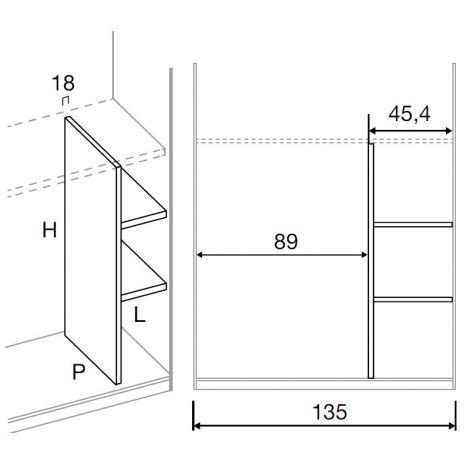 Vendita mobili online - Armadio scorrevole 2 ante Vela L ...