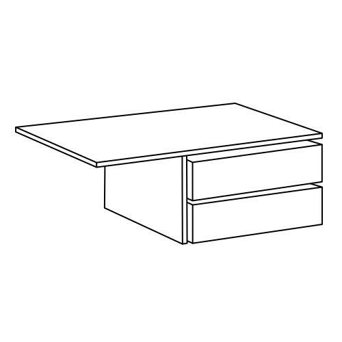 Cassettiera per armadio L.179 LICIA Bianco