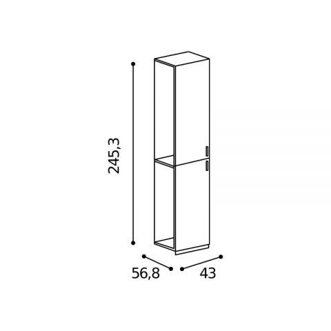 Elemento armadio 2 ante L.43 H.245,3 MARTINA