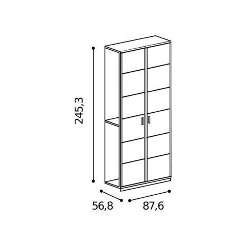 Elemento armadio 2 ante L.87,6 H.245,3 con riquadri MARTINA