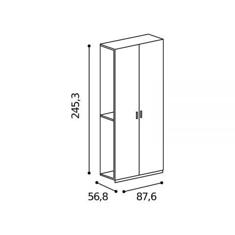 Elemento armadio 2 ante L.87,6 H.245,3 MARTINA