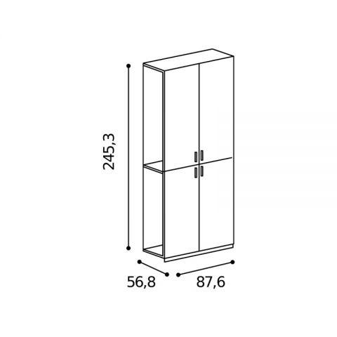 Elemento armadio 4 ante L.87,6 H.245,3 MARTINA