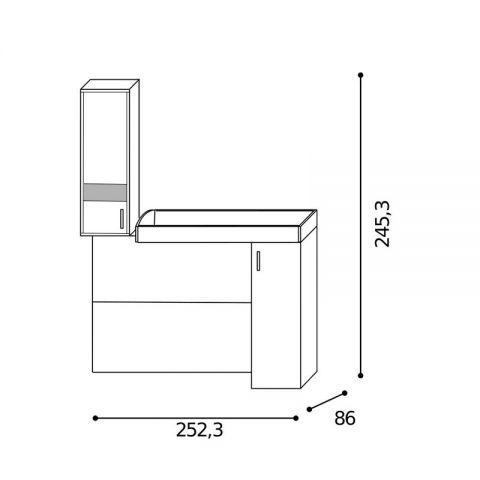 Elemento soppalco L.252,3 con inserti Dx MARTINA