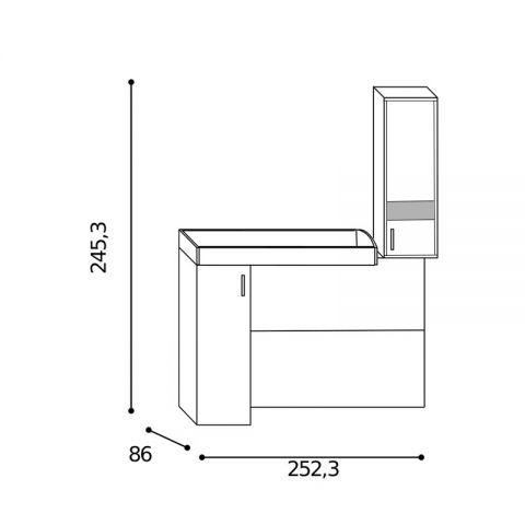 Elemento soppalco L.252,3 con inserti Sx MARTINA