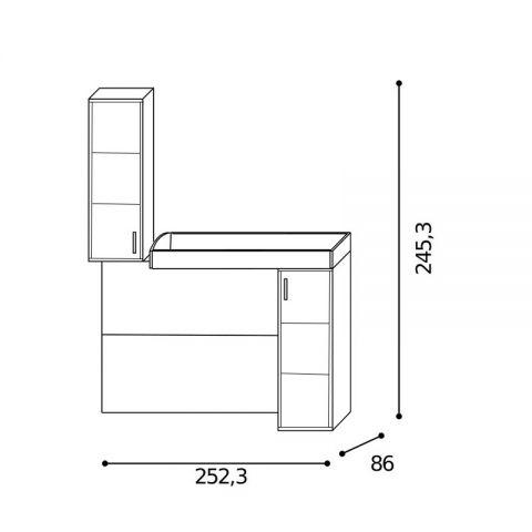 Elemento soppalco L.252,3 con riquadri Dx MARTINA