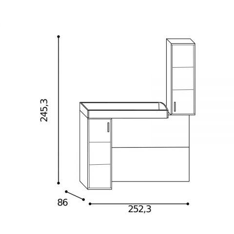 Elemento soppalco L.252,3 con riquadri Sx MARTINA