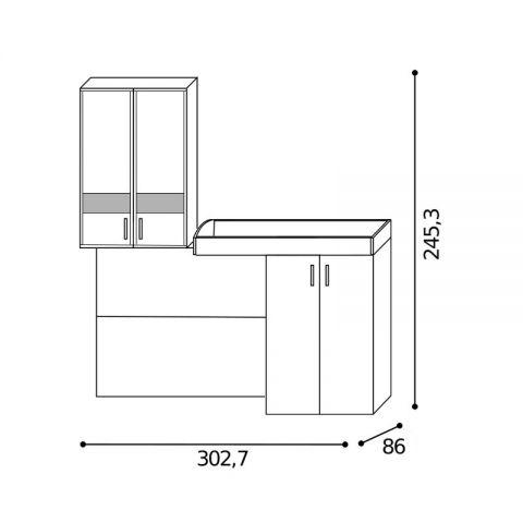 Elemento soppalco L.302,7 con inserti Dx MARTINA