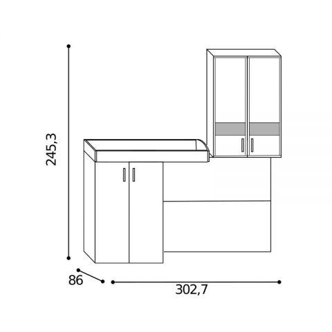 Elemento soppalco L.302,7 con inserti Sx MARTINA