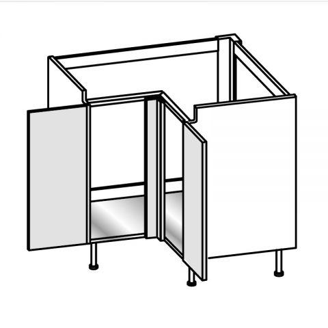 Base lavello angolo 2 ante con montante H.75 94x94 cm IMOLA