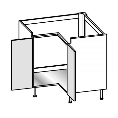 Base lavello angolo 2 ante H.75 94x94 cm IMOLA