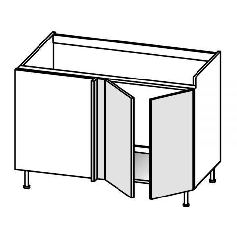Base lavello angolo 2 ante DX H.75 P.58/64 L.144 cm IMOLA