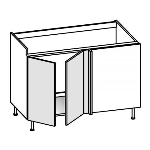 Base lavello angolo 2 ante SX H.75 P.58/64 L.144 cm IMOLA