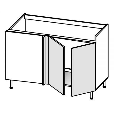 Base lavello angolo 2 ante DX H.75 P.58/64 L.154 cm IMOLA