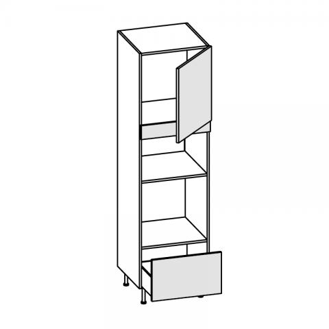 Colonna forno H.60 microonde H.33,2/45,2 1 anta 1 cesto H.204 P.58 L.60 cm IMOLA