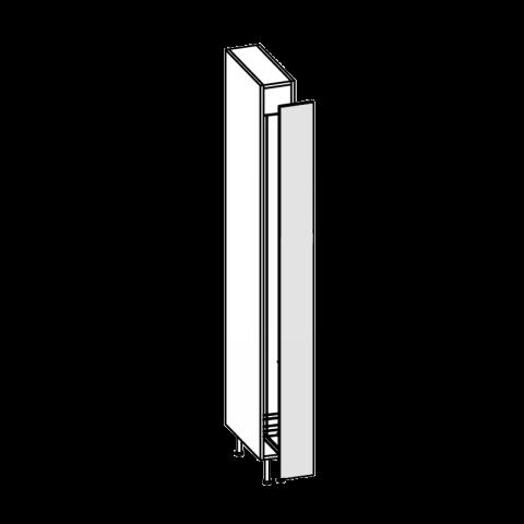 Colonna 1 anta cestello estr portascope SX H.204 P.58 L.15 cm IMOLA