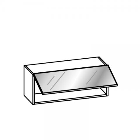 Pensile 1 anta vetro basculante H.36 P.34 cm
