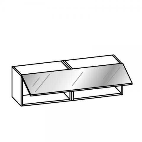 Pensile 1 anta vetro basculante H.36 P.34 L.120 cm
