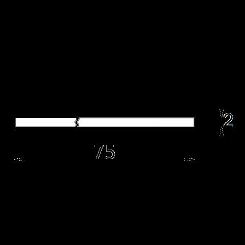 Top FENIX bordo ABS 1 lato P.75 H.2 cm