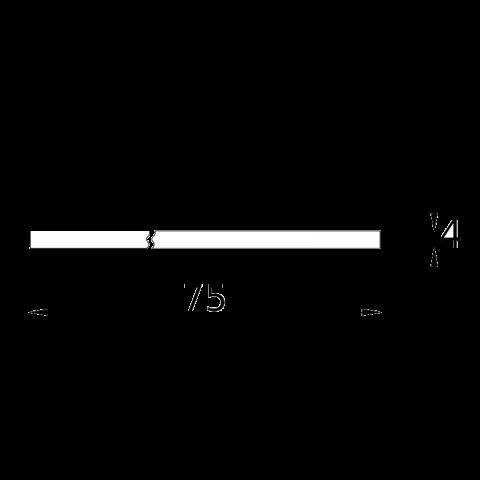 Top FENIX bordo ABS 1 lato P.75 H.4 cm