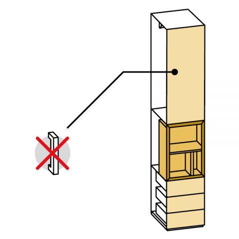Elemento armadio 1 anta e cassetti/vano a giorno L.44 H.245 IAGO