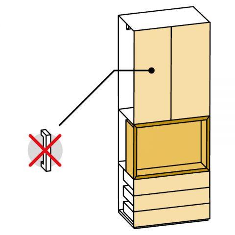 Elemento armadio 2 ante e cassetti/vano TV L.89 H.245 IAGO