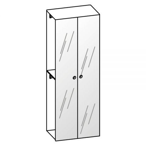 Elemento armadio 2 ante specchio L.89 H.245 IAGO