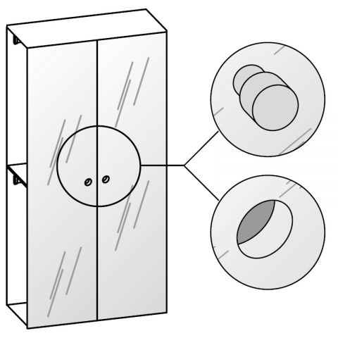 Elemento armadio 2 ante specchio L.120 H.245 IAGO