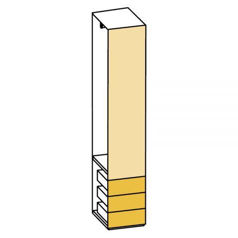 Elemento armadio 1 anta e cassetti L.44 H.245 IAGO