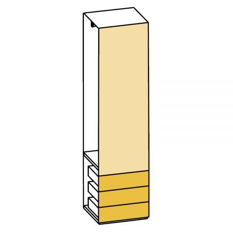 Elemento armadio 1 anta e cassetti L.59 H.245 IAGO