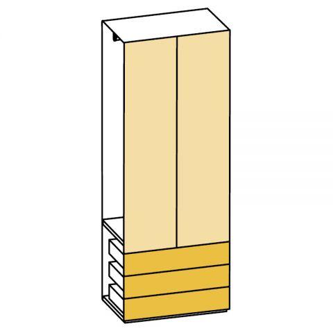 Elemento armadio 2 ante e cassetti L.89 H.245 IAGO
