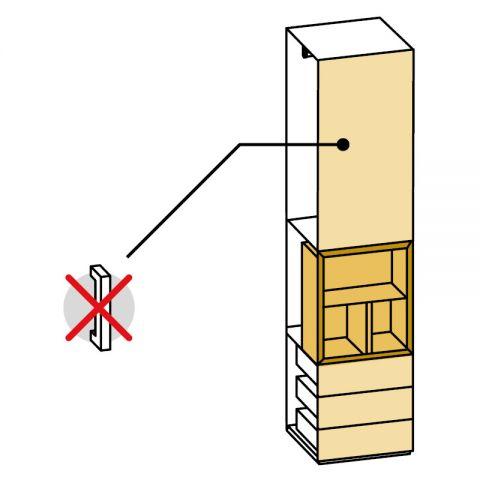 Elemento armadio 1 anta e cassetti/vano a giorno L.59 H.245 IAGO
