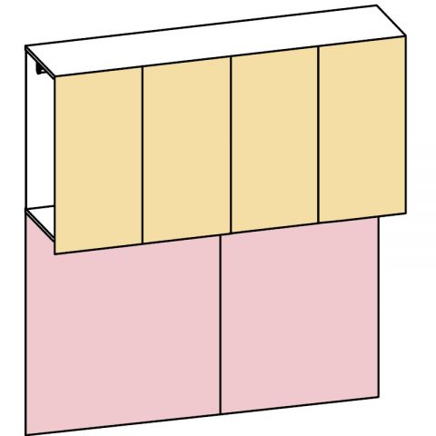 Elemento armadio ponte 2 ante L.241 H.245 IAGO