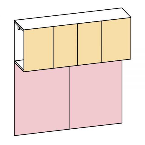 Elemento armadio ponte 4 ante L.210 H.225 IAGO