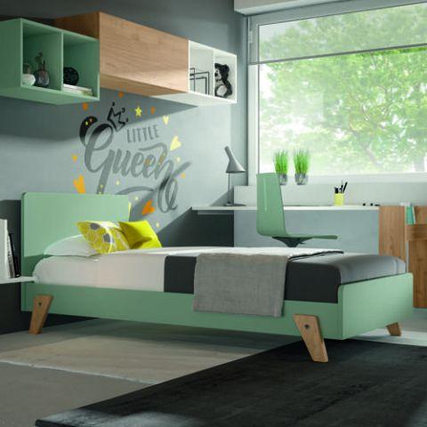 Letto 02 IAGO colori bianco/verde salvia