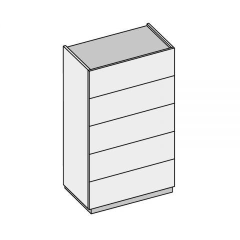 Elemento 5 cassetti L.60 H.108,4 P.53,2 cm GR01 ISCHIA