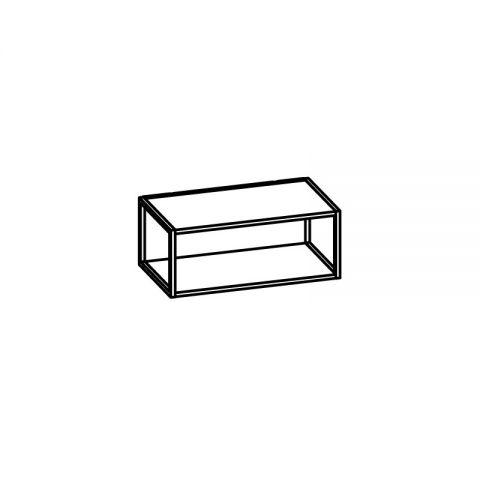 Libreria con telaio alluminio L.60 H.24 P.34 cm ITALO