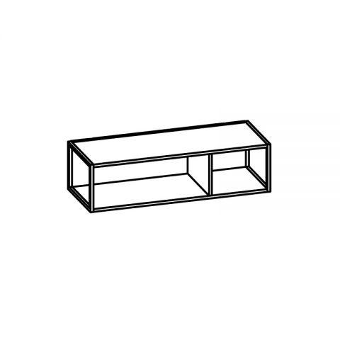 Libreria con telaio alluminio L.90 H.24 P.34 cm ITALO