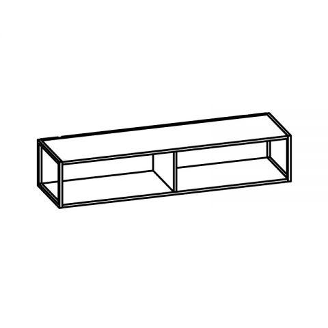 Libreria con telaio alluminio L.120 H.24 P.34 cm ITALO