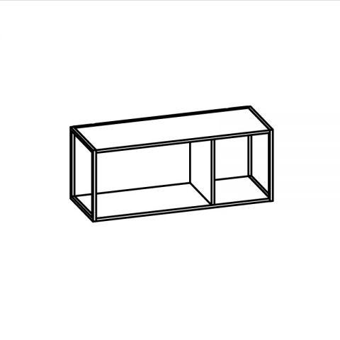 Libreria con telaio alluminio L.90 H.36 P.34 cm ITALO