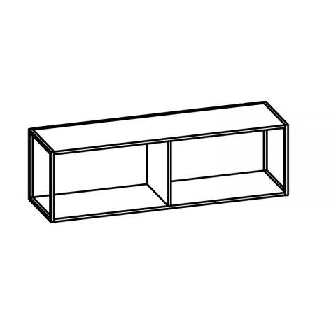 Libreria con telaio alluminio L.120 H.36 P.34 cm ITALO