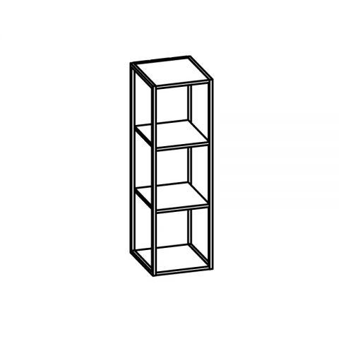 Libreria con telaio alluminio L.30 H.96 P.34 cm ITALO