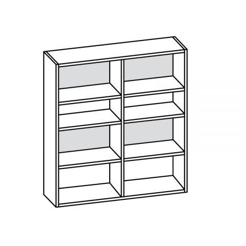 Libreria pensile L.120 H.132 P.34 cm ITALO